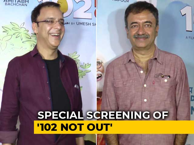 Rajkumar Hirani, R Balki & Vidhu Vinod Chopra At The Screening Of 102 Not Out