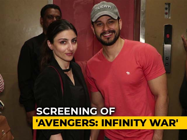 Celeb Spotting! Riteish, Soha, Kunal At The Screening Of Avengers: Infinity War