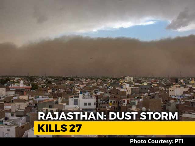 Video : 27 Dead In Rajasthan Dust Storm, Victims Were Sleeping As Homes Collapsed