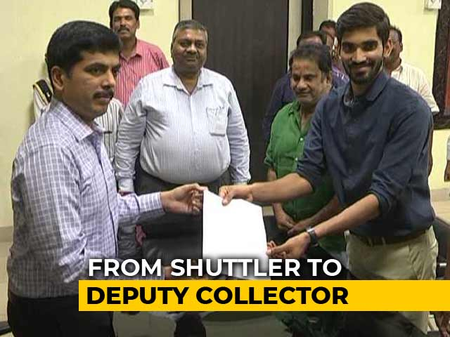 Video : Badminton Champion Kidambi Srikanth Takes Charge As Deputy Collector In Andhra Pradesh