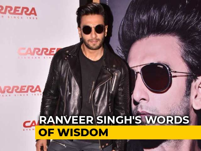 Video : Ranveer Singh's Motivational Message For The Youth