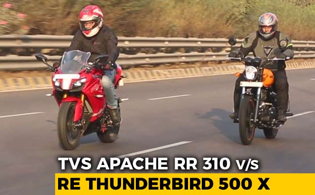 TVS Apache RR 310 vs Royal Enfield Thunderbird 500 X: Comparison Review