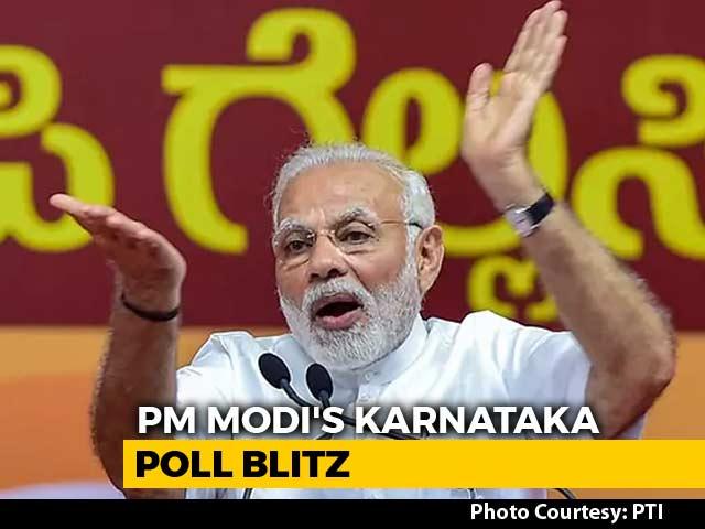 "Video : Bengaluru Turned Into A ""Valley Of Sin"": PM Modi Attacks Siddaramaiah"