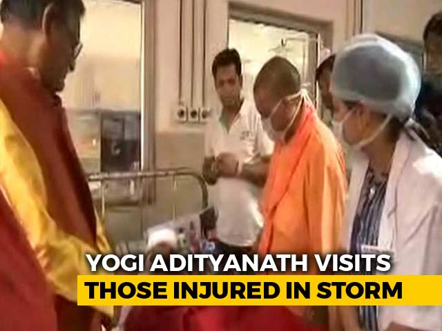 Video : Back In Uttar Pradesh, Yogi Adityanath Finds Who Is To Blame For Storm Deaths