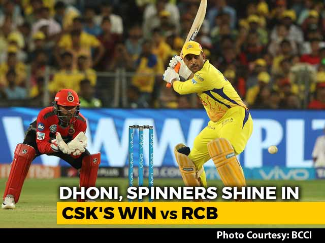 Video : IPL 2018: CSK Beat RCB By 6 Wickets, Go Top Of The Table