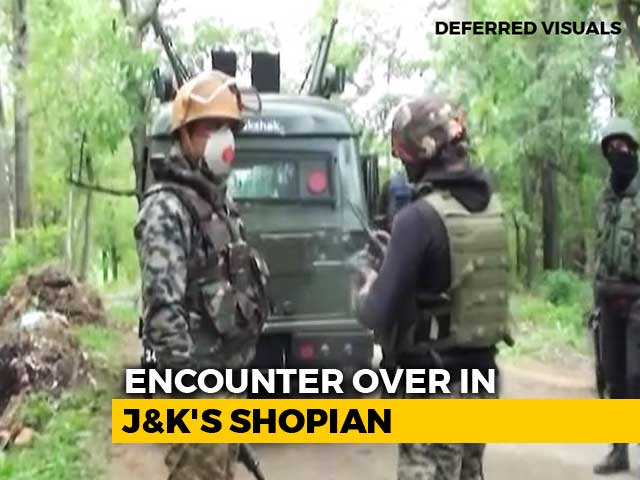 Video : In South Kashmir's Shopian, 5 Terrorists Killed In Encounter