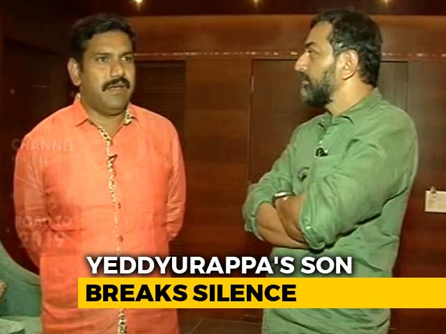 Video : Father Got A Call, Told Me Not To File Nomination: BS Yeddyurappa's Son