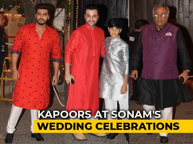 Video : Kapoor <i>Khandaan</i>: Arjun, Boney & Sanjay At Sonam Kapoor's Pre-Wedding Celebrations