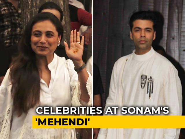Karan Johar, Rani Mukerji & Other Stars At Sonam Kapoor's Pre-Wedding Celebrations
