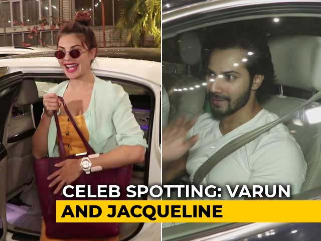 Video : Celeb Spotting: Varun Dhawan, Jacqueline Fernandez Outside Sonam Kapoor's House