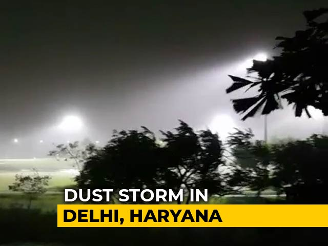 Video : Rain, Winds Hit Delhi, Cities In North India Amid Storm Alert