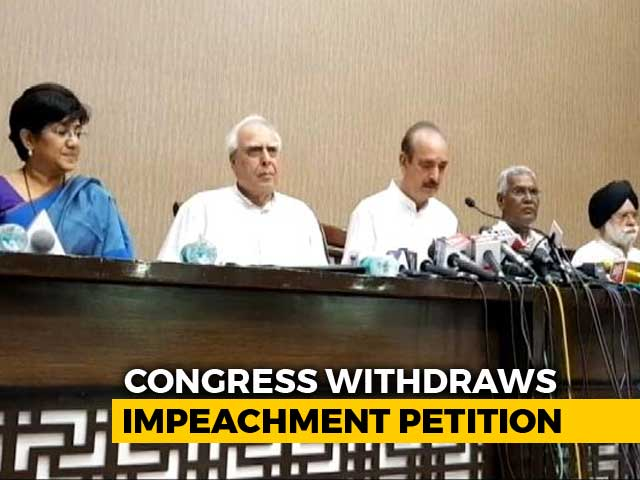 Video : On Impeachment Move Against Chief Justice, Congress Withdraws Petition