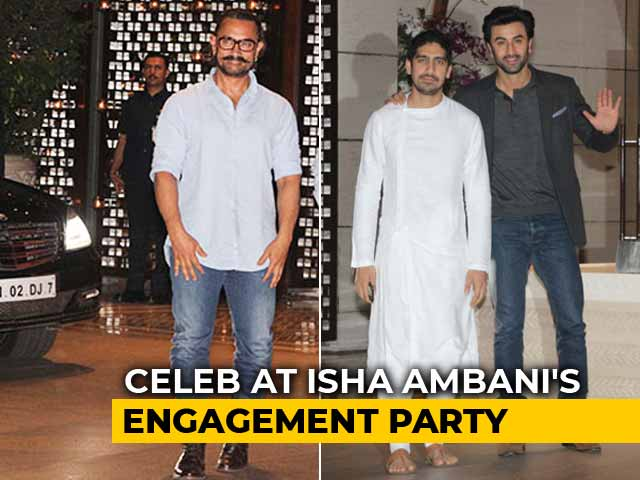 Aamir, SRK, Ranbir & Others At Ambani's Bash