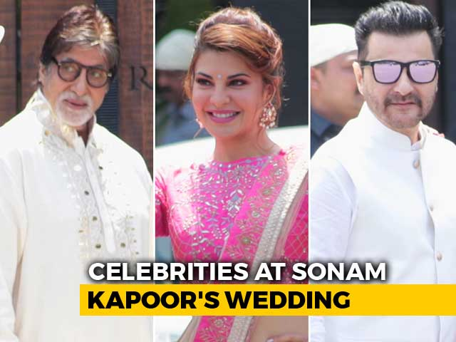 Video : Bachchans And Other A-List Guests At Sonam <i>Di</i> Wedding