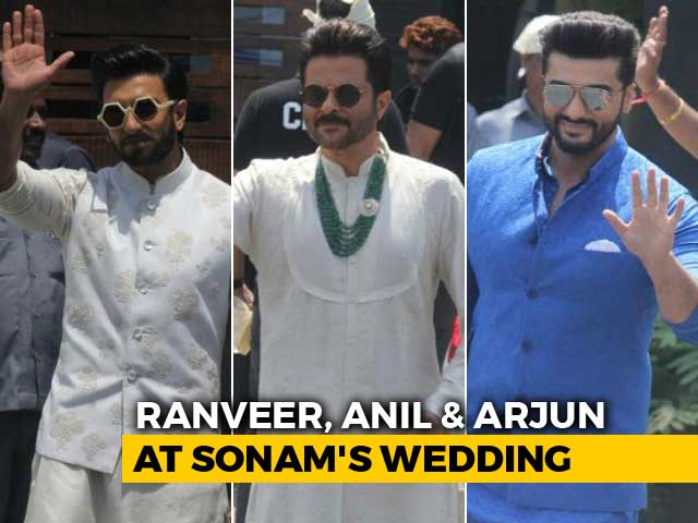 Video : Ranveer Singh With Anil & Arjun Kapoor At Sonam's Wedding