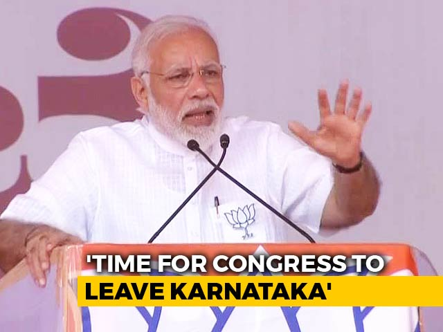 Video : Congress Stands For Six Evils Or 6Cs, Says PM In Karnataka