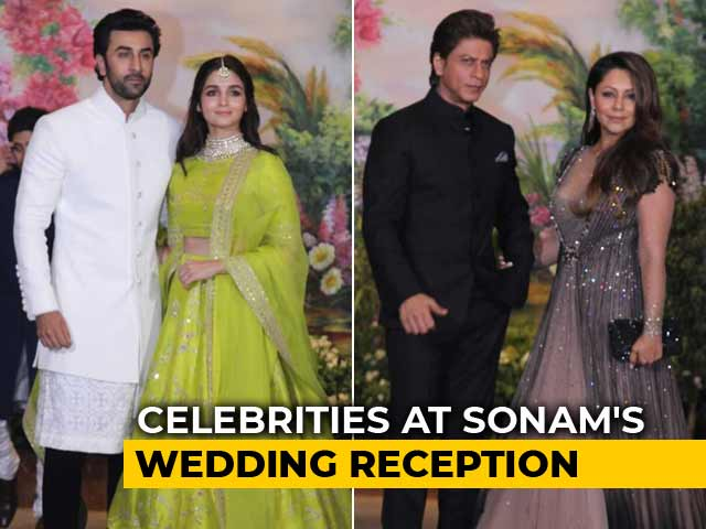 SRK, Alia, Ranbir & Other Stars At Sonam's Wedding Reception