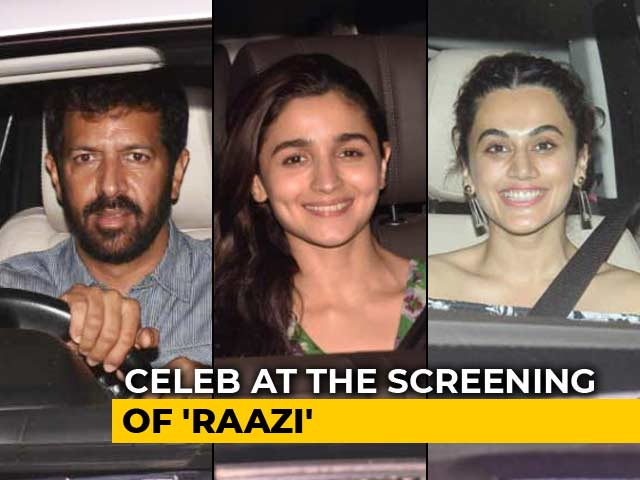 Video : Bollywood Stars At The Screening Of Alia Bhatt's <i>Raazi</i>