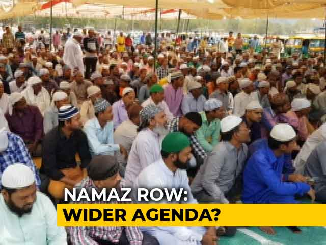 "Video : ""Issue Beyond Namaz"": Right-Wing Body On Row Over Prayers In Gurugram"