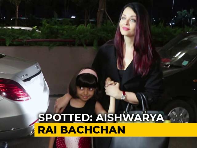 Watch! Aishwarya Rai Bachchan Leaves For Cannes With Aaradhya