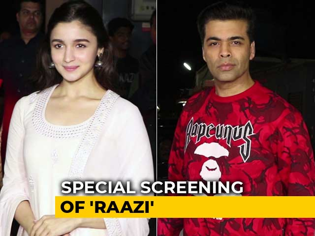 Alia Bhatt, Karan Johar & Others At The Special Screening Of Raazi