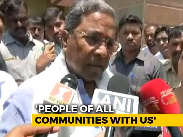 "Video : Yeddyurappa ""Mentally Disturbed"", Says Siddaramaiah, On Swearing-In Comment"