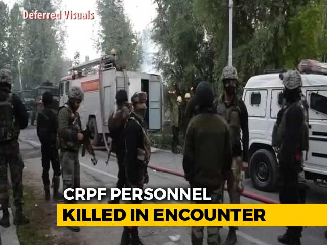 Video : CRPF Jawan Killed In Encounter In Pulwama, Terrorists Escape