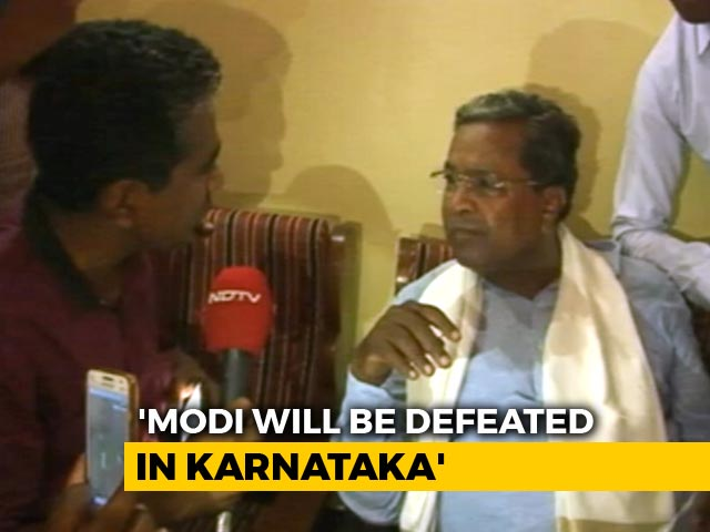 Video : PM Modi Going To Temples As He Knows BJP Will Be Defeated: Siddaramaiah