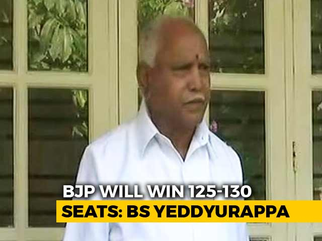 """Video : """"BJP Will Win 125-130 Seats"""": BS Yeddyurappa's Forecast And A Challenge"""