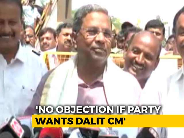 "Video : Dalit Chief Minister For Karnataka? Siddaramaiah Says ""Yes"", With Riders"