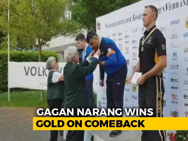 Video : Gagan Narang Makes A Comeback To 10-M Air Rifle, Strikes Gold