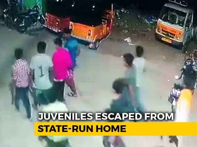 Video : On Video, Dramatic Midnight Escape From Juvenile Home Near Hyderabad