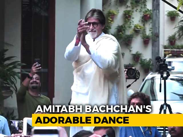 Watch! Amitabh Bachchan's Adorable Dance For His Fans Outside Jalsa