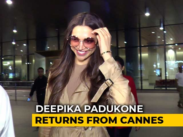 Video : Celeb Spotting: Deepika Padukone Returns From Cannes & More