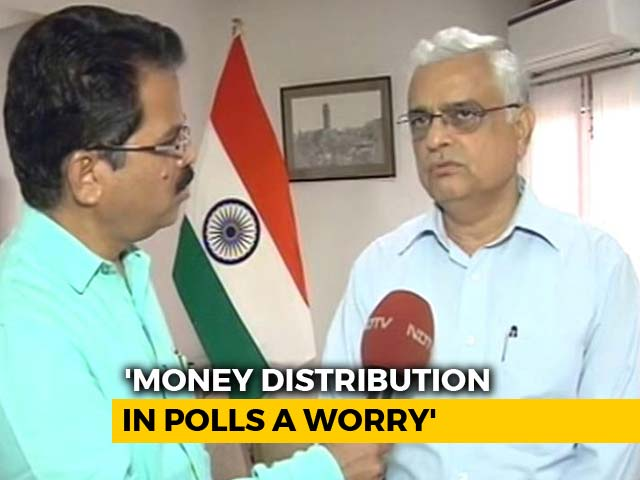 Video : Money Distribution In Polls A Worry, Says Chief Election Commissioner