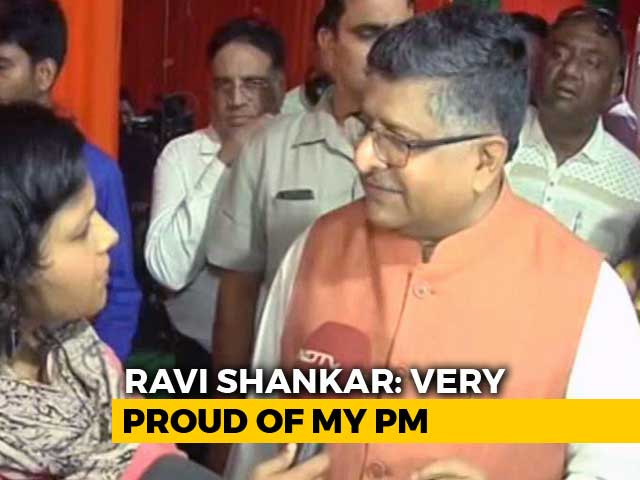 Video : Divisive Campaign Of Congress Against My Party Failed: BJP's Ravi Shankar Prasad