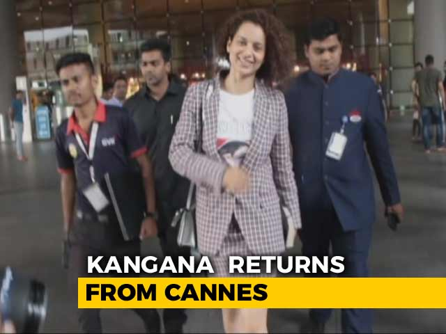 Video : Celeb Spotting: Kangana Back From Cannes & Fatima At A Screening