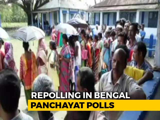 Video : After Bengal Panchayat Election Violence, Re-Poll Under Way In 568 Booths