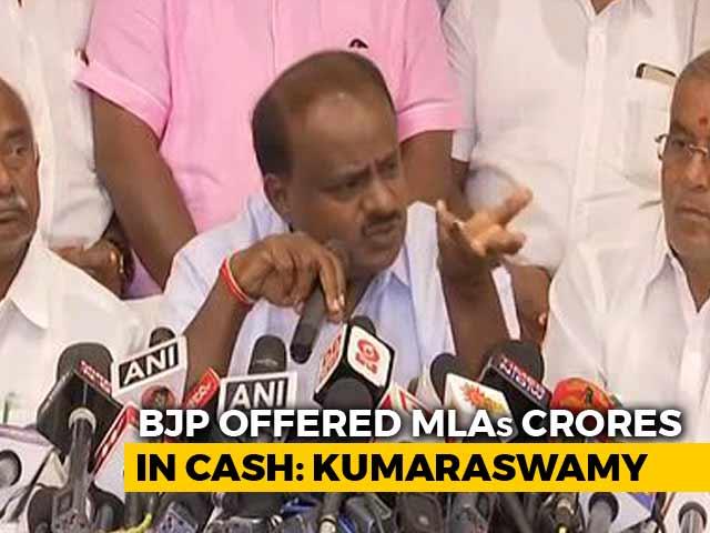 "Video : ""Operation Lotus"": Kumaraswamy Says BJP Offered 100 Crores To His MLAs"