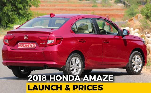 Second Gen Honda Amaze Prices Revealed