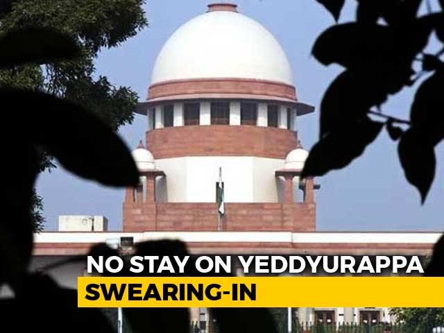Video : Won't Stop Yeddyurappa Swearing-In, Says Top Court In Overnight Hearing