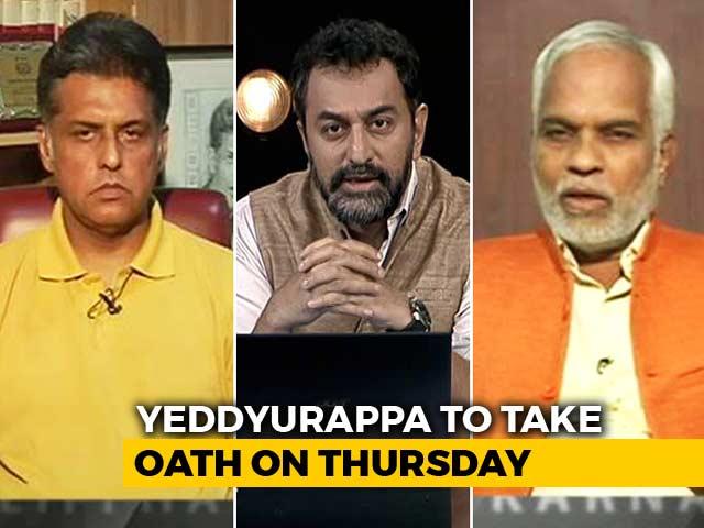 Video : Yeddyurappa To Take Oath, Gets Letter From Karnataka Governor