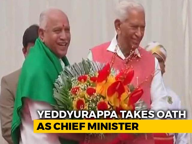 Video : BJP's Yeddyurappa Takes Oath As Karnataka Chief Minister