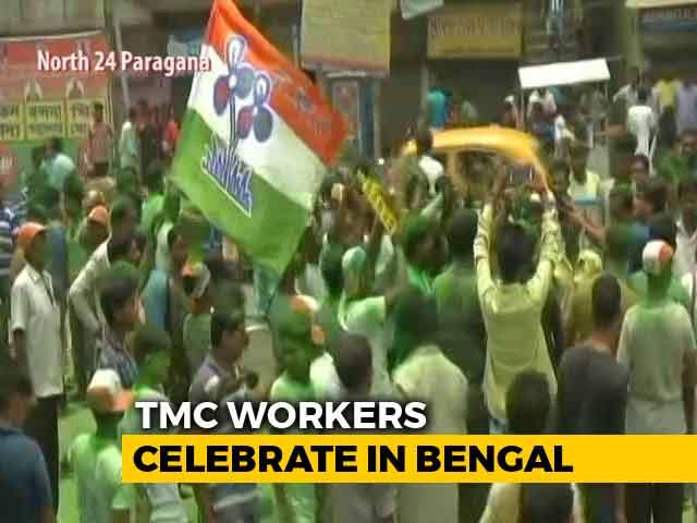 Video : Trinamool Congress Wins 2,467 Gram Panchayat Seats In West Bengal