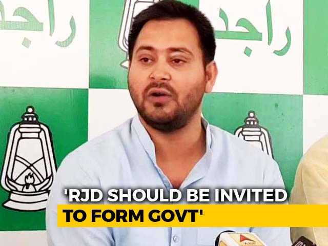 "Video : ""Single Largest Is All? Why Not Our Party"": Tejashwi Yadav On Karnataka"