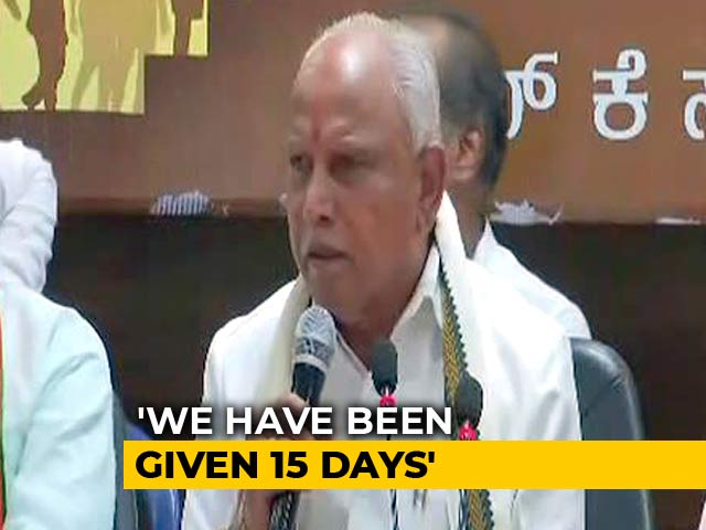 Video : Don't Need 15 Days, Says Yeddyurappa, Court Battle Still On