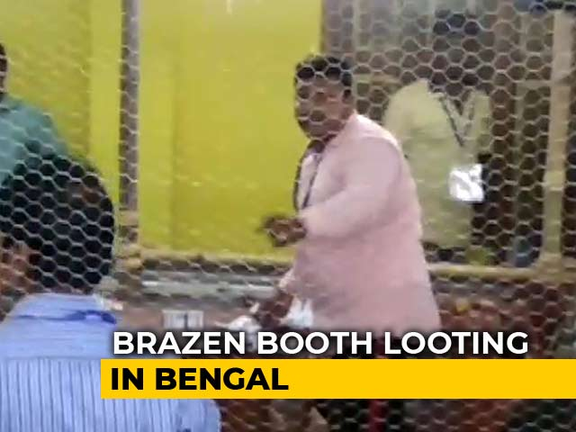 Video : On Video, Mass False Voting In Violence-Hit Bengal Panchayat Polls