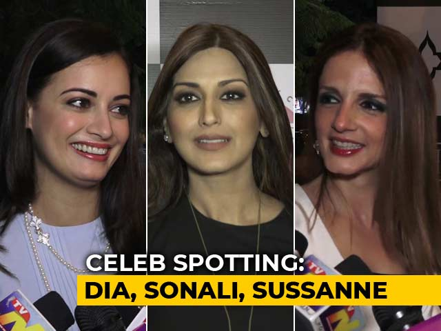 Video : Celeb Spotting: Sussanne Khan, Dia Mirza, Sonali Bendre & Others