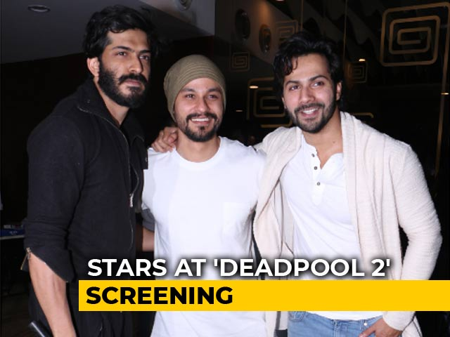 Varun Dhawan, Harshwardhan Kapoor & Kunal Kemmu At Deadpool 2 Screening