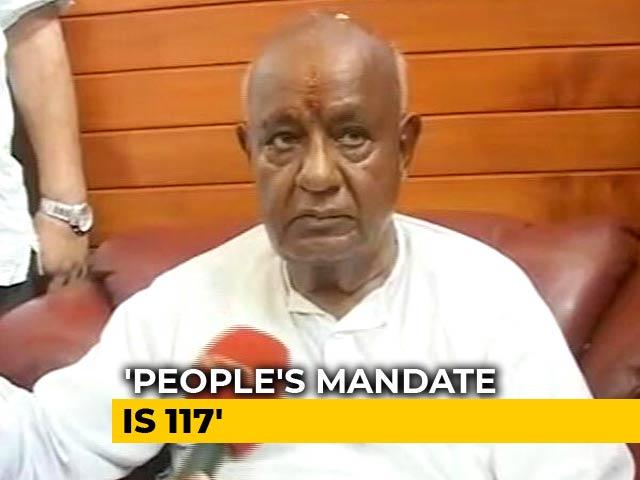 Video : People's Mandate In Karnataka Is 117: HD Deve Gowda Tells NDTV